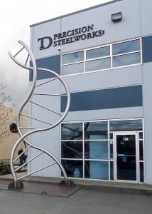 TD Steel-DNA Sculpture